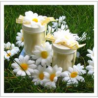 These beautiful daisy candles will brighten any garden-theme shower or wedding. Each soy-based, cotton wick candle is scented with a lovely vanilla fragrance. Daisy Party, Daisy Wedding, Wedding Flowers, Dream Wedding, Bee Party, Yellow Wedding, Garden Wedding, Unique Wedding Favors, Unique Weddings