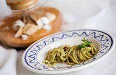 Linguine al pesto di menta e pistacchi ricetta