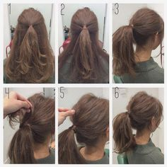 Hair peinados medio media melena 41 Ideas for 2019 Medium Hair Styles, Short Hair Styles, Hair Medium, Long Hair Models, Hair Arrange, Pinterest Hair, Messy Hairstyles, Ponytail Hairstyles Tutorial, Hairstyles 2018