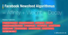 Der Facebook Newsfeed Algorithmus – von manchen auch noch Edgerank genannt – bestimmt, welche Inhalte im Newsfeed angezeigt werden und welche nicht. Sein Ziel ist recht einfach zu erklären: Er soll dem Nutzer immer die für ihn relevantesten Nachrichten zeigen. In diesem Artikel wollen wir [... mehr ...]