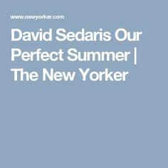 David Sedaris Our Perfect Summer | The New Yorker
