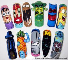 NailGurl x Spongebob | Mr Krabs, The Flying Dutchman, Ms Puff & More