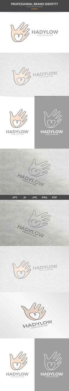 Vector Hand With Heart Logo Design. Best Objects