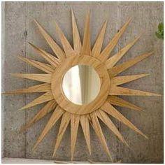 espejo sol madera