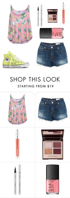 """""""Cheering for my sister #perfect"""" by farahossama ❤ liked on Polyvore featuring Wildfox, rag & bone, Converse, M&S, Charlotte Tilbury, Eyeko and NARS Cosmetics"""