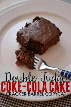 If you love the Cracker Barrel version of Coke-Cola Cake then you will love this copycat version too. A rich chocolate cake recipe that is perfect with vanilla ice cream.