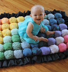 DIY Bubble Quilt - perfect for tiny tushies - Terrie, this would be a great baby gift; you could make these !