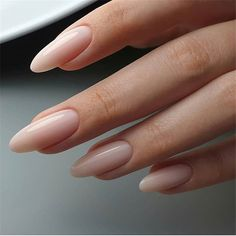 On average, the finger nails grow from 3 to millimeters per month. If it is difficult to change their growth rate, however, it is possible to cheat on their appearance and length through false nails. Are you one of those women… Continue Reading → Almond Acrylic Nails, Cute Acrylic Nails, Cute Nails, Pretty Nails, My Nails, Long Almond Nails, Natural Almond Nails, Long Natural Nails, Natural Looking Nails