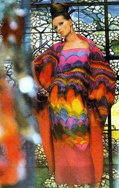 1960s model Veruschka by Gordon Parks in vintage Vogue