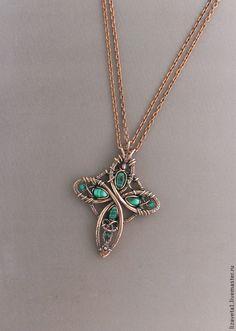 Beautiful Celtic cross wirework                                                                                                                                                     More