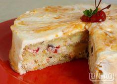 Cake festivity / Recipe in Portuguese