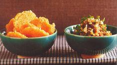 Chilli pork and rice crackers recipe