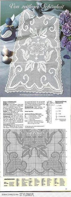 Crochet Tablecloth, Crochet Doilies, Filet Crochet Charts, Free Crochet, Fillet Crochet, Crochet Mittens, Chrochet, Crochet Designs, Yarn Crafts