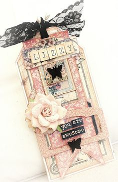 "I love this tag created by ""Just My Scrapping World""...: Guest Designer for Paper Stories"