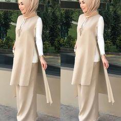 Office Look Casual Hijab – Hijab Fashion 2020 Abaya Fashion, Muslim Fashion, Modest Fashion, Fashion Dresses, Office Wear Dresses, Casual Office Wear, Office Style, Outfits Casual, Dress Outfits