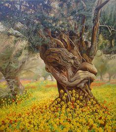 Olive Tree, Classic Painting on Canvas, Original Oil Landscape, Handmade Painting, Fine art, Realism, original artwork, nature by OliviaArtGallery on Etsy