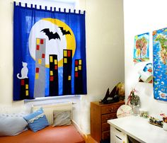 The CITY  CURTAIN for Kids and teenagers by dgmart on Etsy, $140.00 Selling Handmade Items, Handmade Shop, Handmade Crafts, City Curtains, Home Curtains, Kid N Teenagers, Kids, Sewing Patterns, Tutorials