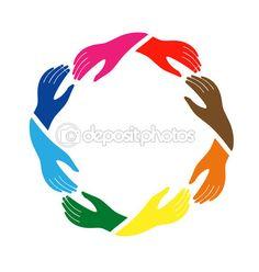 Teamwork group of hands — Stock Vector #11117817