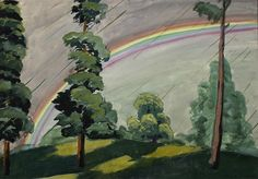 CHARLES BURCHFIELD The Rainbow (1920)