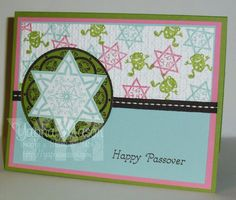 Passover Card with frogs