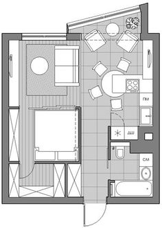 New apartment layout studio beds ideas Apartment Layout, Apartment Interior, Apartment Design, Living Room Interior, Interior Livingroom, Bedroom Layouts, House Layouts, Bedroom Ideas, Small House Plans