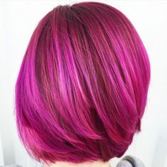"""Sami Schneider (@samihairmagic), a Color Specialist at House of Color, Colorado Springs, CO says """"I received a message on Facebook from a girl who is expecting and wanted to color her hair pink if she was having a girl and blue if she was having a boy. I was so excited because I've always been wanting to do some gender reveal hair!! She found out she was having a girl and was beyond thrilled. Pink hair it is. I was so excited to be part of such an amazing moment for her and her family and…"""