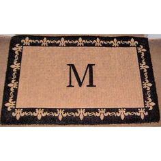 "Three Posts Straub Handmade Monogram Doormat Size: 24"" x 39"", Letter: S"