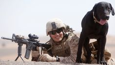 A Marine and his Military Working Dog (Ace)