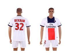 Maillot de Foot PSG (Beckham 32) Exterieur Nike Collection 2013 2014 blanc Pas Cher  http://www.korsel.net/maillot-de-foot-psg-beckham-32-exterieur-nike-collection-2013-2014-blanc-pas-cher-p-2894.html