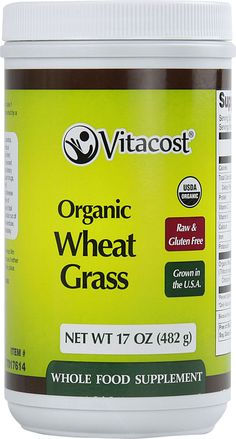 Vitacost Whole Food Organic Wheat Grass - Powder