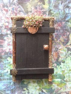 Enchanting Rustic Woodland Fairy Door Ornament | eBay