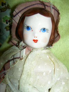 "Set of Four 1940s China Ruth Gibbs Godey's Lady ""Little Women"" Dollhouse Dolls   eBay"