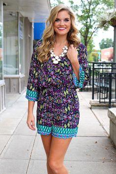 Floral Paisley Romper | uoionline.com: Women's Clothing Boutique