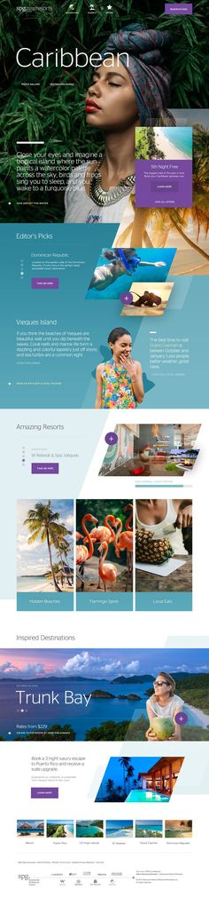 Starwood Hotels & Resorts Caribbean Destination Website Design by Agency Dominion. If you're a user experience professional, listen to The UX Blog Podcast on iTunes.
