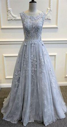Gray Blue wedding dresses, Lace Wedding Dresses,bridal gown,lace wedding party dresses,lace evening dresses,Backless Prom Dresses,long prom dresses,sexy wedding dresses, #wedding