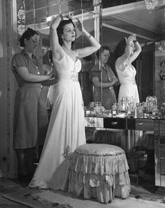 Glamour Every Night: Joan Bennett prepares for some fancy outing in ...