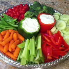 Wizard of Oz: Scarecrow's garden veggie platter. So much presentation. Wow. Very health