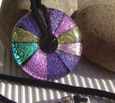 Dichroic Pendant  Dichroic Jewelry  Fused Glass by TremoughGlass, $28.00