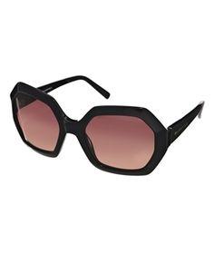 Karl Largerfeld Hexagonal Sunglasses   ASOS