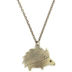 ModCloth Darling Hedgehog Pledge Necklace