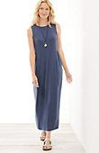 shirred-waist knit maxi dress | J.Jill Like it but don't need more dresses this season