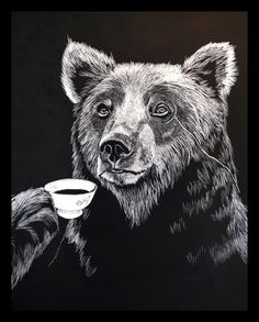 Mr Bear Print | Jimbob Art | Wolf & Badger