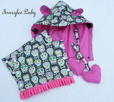 Tula Sugar Skulls, Reversible Drool Pads Teething Pads Strap Covers, Hoodie, Reach Straps by AveryleeBaby