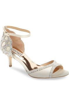 Badgley Mischka 'Gillian' Crystal Embellished d'Orsay Sandal (Women) available at #Nordstrom