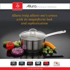 #JBCookware #saucepan #Allura #cookware #kitchenware #pan Gas And Electric, Allura, Kitchenware, Cookware, Stainless Steel, Ceramics, Cooking, Products, Diy Kitchen Appliances