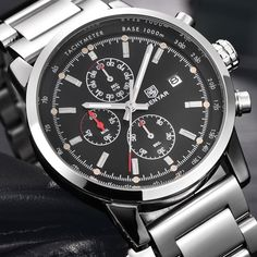 us 71 99 pattous mens watch brands full stainless steel date us 59 64 benyar fashion chronograph sport mens watches top brand luxury military stainless steel strap