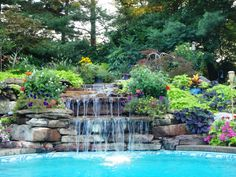 Waterfall Pool by West Winds Earthscaping