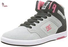 DC Shoes Nyjah High Se, Sneakers Hautes femme, Gris (Grey/Black), 38 EU - Chaussures dc shoes (*Partner-Link)