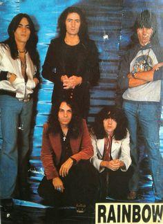 💣🎸🆘️The Rainbow 🤞🔥✌ Rainbow Dio, Rainbow Band, James Dio, Heavy Metal Music, Boys Underwear, Vintage Rock, My Favorite Music, Deep Purple, Music Is Life