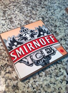 Smirnoff® Coasters Set of Two Gifts for by BriarBeachDesigns